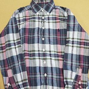 Ralph Lauren Button Down Plaid Shirt